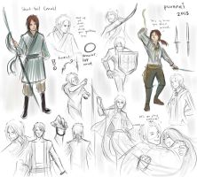 HS: short-tail conall, sketches. by purenai