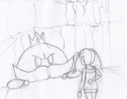 Nina vs Big Bob-omb Sketch by Stretch90