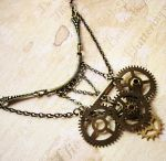 Steampunk Bib Necklace by LaOubliette