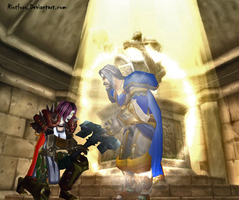 I will not defile this tomb by riotfury