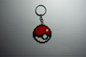 Poke Ball Mini Hama Keychain by inu-chan-free