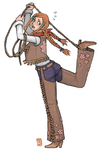 orihime cowgirl by emlan