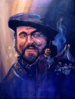 Pavarotti in Acrylic by skian-winterfyre