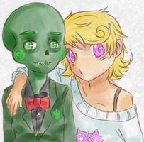 Calliope and Roxy by Re-Rei