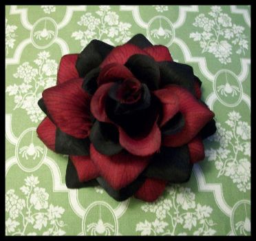 Burgundy Black 2 tone rose by zombiegorecouture