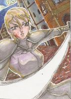 ACEO #91 - Fight in the Night by Jellymii