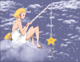 Star Fishing by YesterdaysDaydreamer