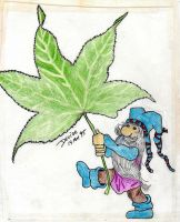 Gnome with Leaf by Mistgod