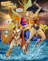 Wonder Woman vs She-Ra by FeiLongEX