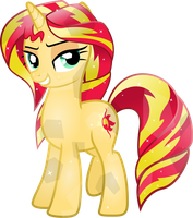 Crystal Sunset Shimmer by TheShadowStone
