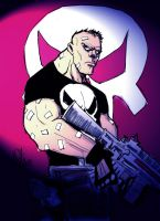 Punisher ink and color by scarecrowhassan