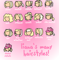 Liana's Many Hairstyles by 8liana8
