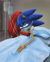 Injured Sonic by Called1-for-Jesus