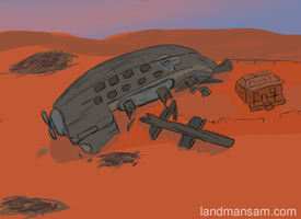 Crash Landing by Land-Man-Sam
