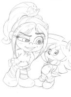 Vanellope n Shaundre by Narcotize-Nagini
