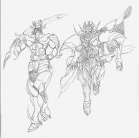 Mazinger Shiva and Queen MazinSaga by RyugaSSJ3