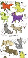 cat and dogs adoptables by tamisise