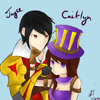 League of Legends: Jayce and Caitlyn by TheMuteMagician
