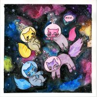 Space Cats by rock-hell