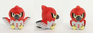 Talonflame Pokedoll by TeacupLion