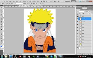 naruto kid lineart colour:WIP: by CrazyLZ