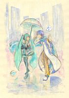 +Vocaloid+ Kaito and Miku by Yakra