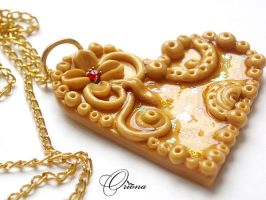Pendant 'Heart of Gold' by OrionaJewelry