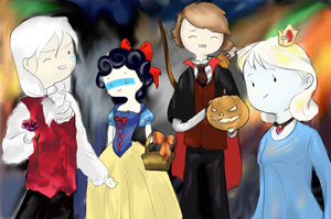 Happy Halloween With Friends by Angeli-The-Icefairy