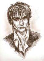 Johnny Depp as Wolfwood by GoblinQueeen
