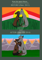Before and After (3 years difference) by XxEeveeChanxX