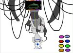 wheatly in GLaDOS' body by kvnfln9000