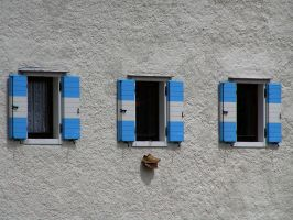 3 windows and a pair of shoes by edelweiss26
