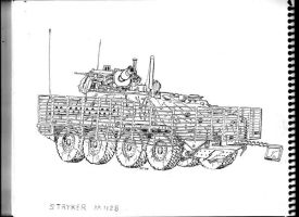 Stryker with slat bar armour by BROKENHILL
