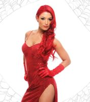 Eva Marie As Jessica Rabbit02 by CaptPatriot2020