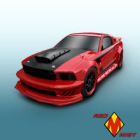 Red Mist Car Illo. by Retoucher07030