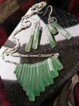 Green Aventurine Fan Necklace by rabidvegeta567