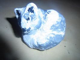Fimo Arctic Fox Sculpture by ArcticIceWolf