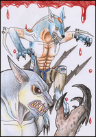Wolf Team Guardian and Ghost2 by Liraelwolf