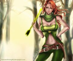 Wind ranger dota 2 by Azaggon