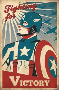 Captain America Retro Poster by OllieBoyd
