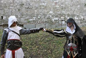 Altair and Ezio Cosplay - Bleeding Effect 1 by 6Silver9