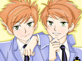 Colouring Practice-Hitachiin Twins by Neon-Fizz