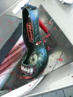 Werewolf Shoe Box Cake 2 by keki-girl