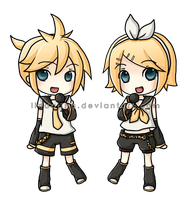 Kagamine Twins by Lindajing