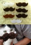 Fuzzy Mustache Keychains by P-isfor-Plushes