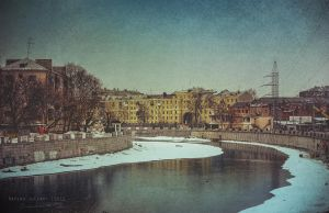 The Winter River. Kharkiv 2012 by RavenaJuly
