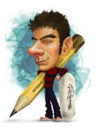 Me as Caricature by Akeiron