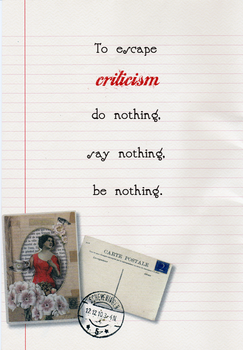 Escape criticism by marjol3in1977