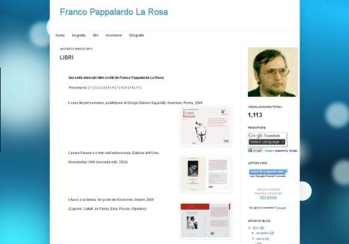 Franco Pappalardo La Rosa web site by vitforlinux