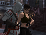 Wounded - Lara and Ezio by andersoncathy